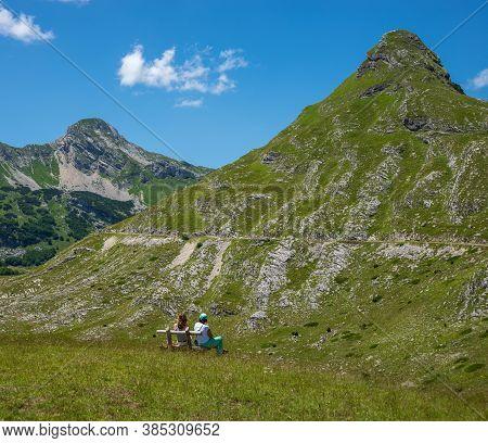 Mountain View In Durmitor National Park, Montenegro, Europe.