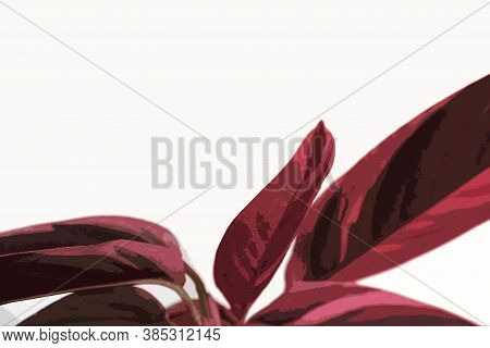 Red and blrown isolated abstract flower. Stromant