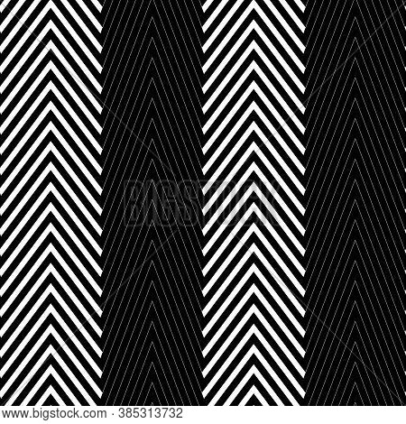 Zigzag Lines. Jagged Stripes. Seamless Surface Pattern Design With Wavy Linear Ornament. Repeated Ch