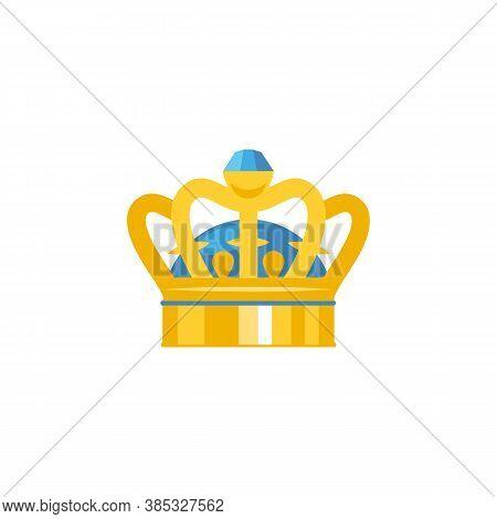 Crown Vector Icon. Crown Emoji Symbol. Royal Crown Isolated Vector Eps10