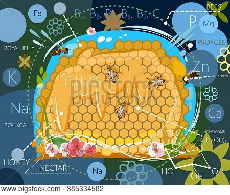 The Benefits Of Bee Products. Vitamins, Trace Elements, Calories, Energy Value. The Chemical Composi