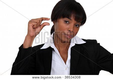 Unimpressed businesswoman
