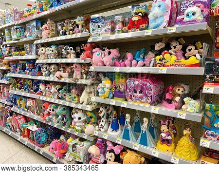 A Cute Display Of Toys At A Walgreens Drug Store In Orlando, Florida.