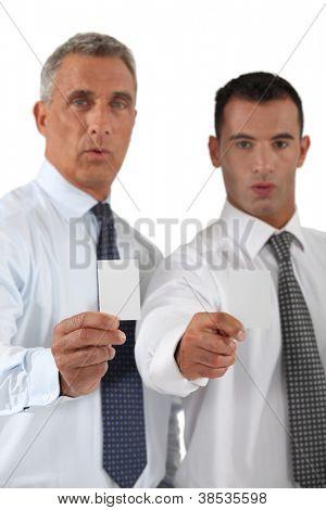 Determined businessmen