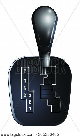 Lever For Automatic Gearbox. Car Gearbox, Transmission Repair In Service Center. Vector In Realistic