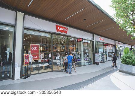 Samut Prakan, Thailand - July 28, 2020: Levi's Shop In Siam Premium Outlets Bangkok. Levi Strauss &