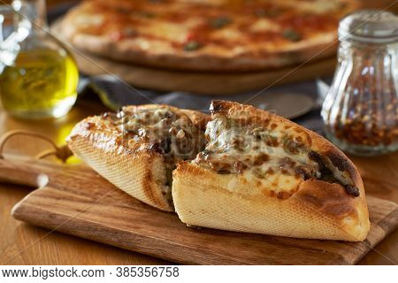 philly cheese steak sandwich with peppers and onions