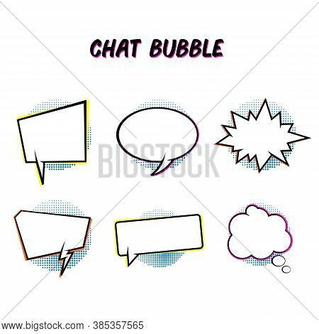 Collection Of Vector Illustrations Of Blank Chat Bubble. It Is Suitable As A Design Element From Com