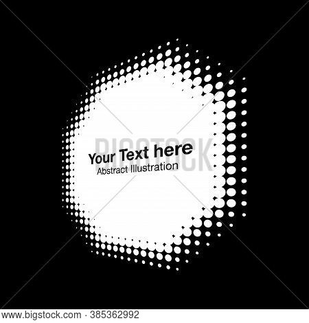 Halftone White Octagon Perspective Frame Abstract Dots Logo Emblem Design Element For Technology, Me