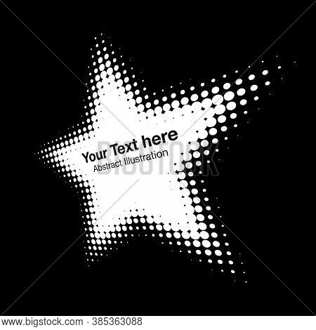 Halftone White Star Perspective Frame Abstract Dots Logo Emblem Design Element For Technology, Medic