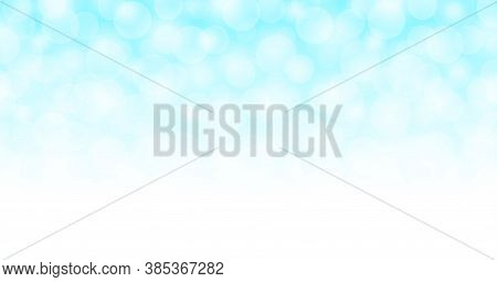 Light Blue Bokeh Soft For Background, Pastel Light Blue With Bokeh Backgrounds Banner, Abstract Glow