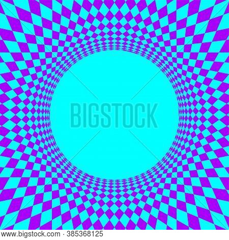 Geometric Art Abstract Purple Blue For Background, Art Line Purple Blue Spiral Optical For Hypnotic