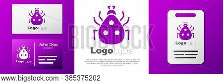 Logotype Ladybug Icon Isolated On White Background. Logo Design Template Element. Vector