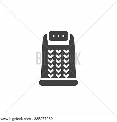 Kitchen Grater Vector Icon. Filled Flat Sign For Mobile Concept And Web Design. Grater Glyph Icon. S