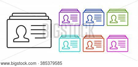 Black Line Resume Icon Isolated On White Background. Cv Application. Searching Professional Staff. A