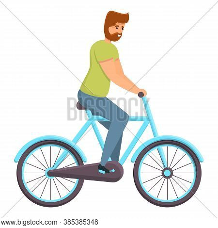 Park Ride Bike Icon. Cartoon Of Park Ride Bike Vector Icon For Web Design Isolated On White Backgrou