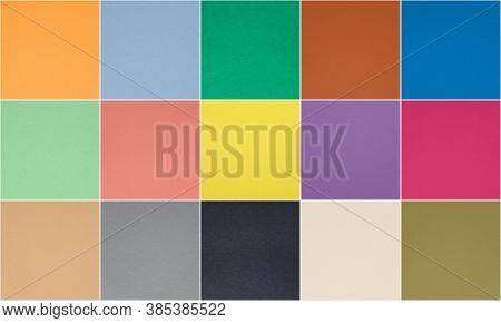 Set Of Fashionable Pantone 10 Trendy Colors And 5 Classic Neutral Colors Of Spring-summer 2021 Seaso