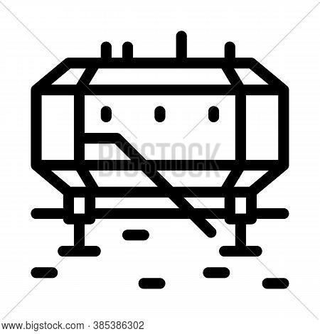 Polar Station Icon Vector. Polar Station Sign. Isolated Contour Symbol Illustration
