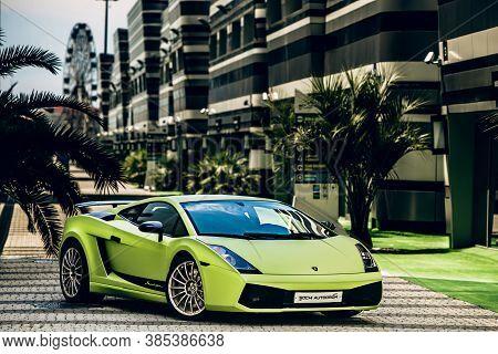 Russia, Sochi, Sochi Autodrom - 26 07 2017: Coupe Lamborghini Gallardo Superleggera Supercar In Soch