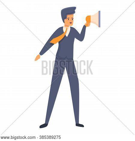 Vote Agitation Icon. Cartoon Of Vote Agitation Vector Icon For Web Design Isolated On White Backgrou
