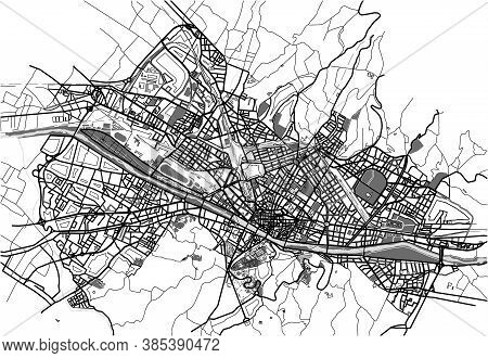 Vector City Map Of Florence, Italy, Europe