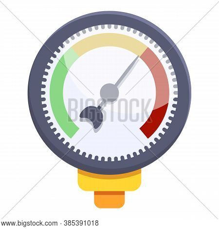 Gauge Manometer Icon. Cartoon Of Gauge Manometer Vector Icon For Web Design Isolated On White Backgr