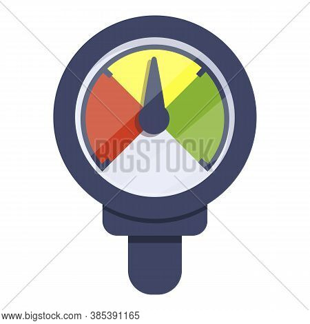 Sensor Manometer Icon. Cartoon Of Sensor Manometer Vector Icon For Web Design Isolated On White Back