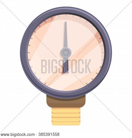 Device Manometer Icon. Cartoon Of Device Manometer Vector Icon For Web Design Isolated On White Back