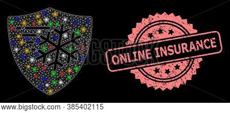 Bright Mesh Net Frost Protection With Bright Dots, And Online Insurance Textured Rosette Seal. Illum
