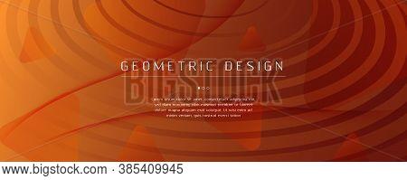 Vector Fluid Flow. Yellow Gradient Landing Page. 3d Abstract Lines. Digital Poster. Orange Fluid Flo