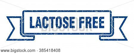 Lactose Free Ribbon Sign. Lactose Free Vintage Retro Band.