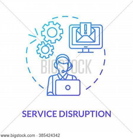 Service Disruption Concept Icon. Corrupt Data Items. Customer Service Idea Thin Line Illustration. C