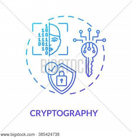 Cryptography Concept Icon. Encryption, Decryption. Secure Communications Techniques Idea Thin Line I