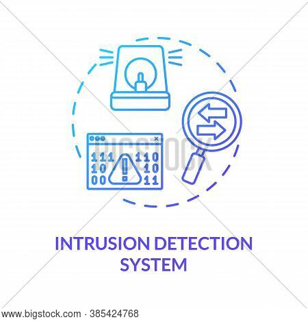 Intrusion Detection System Concept Icon. Internet Traffic Monitoring Idea Thin Line Illustration. An