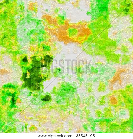 art abstract watercolor green and yellow background poster