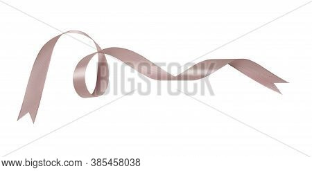 A Pink Ribbons Isolated On A White Background With Clipping Path.