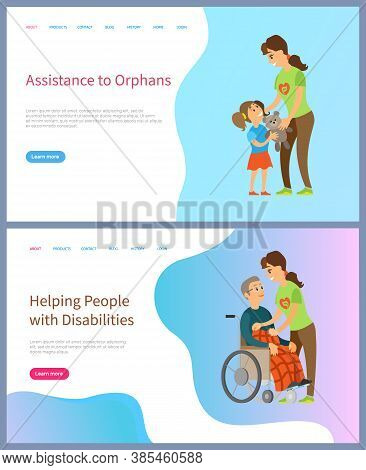Volunteering Online, Help People With Disabilities, Assistance To Orphans, Caring To Kid, Elderly Ma