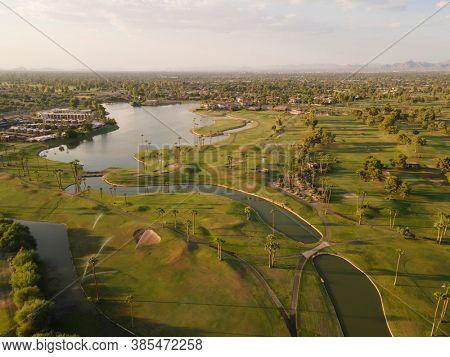 Aerial image of Scottsdale, Arizona,USA