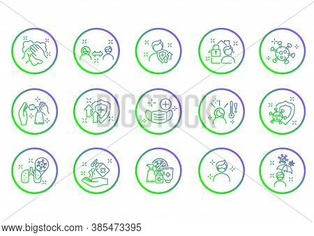 Outline Icons About Coronavirus Prevention And Symptoms. Virology Outline Iconset. Editable Vector S