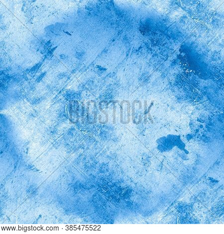 Old Grunge Texture. Art Vintage Stone Surface. Dirt Dust Paper. Blue Retro Background. Ink Paint Ill