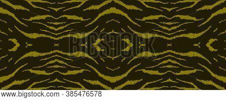 Seamless Safari Wallpaper. Abstract African Texture. Luxury Animal Skin Design. Watercolour Stripes.