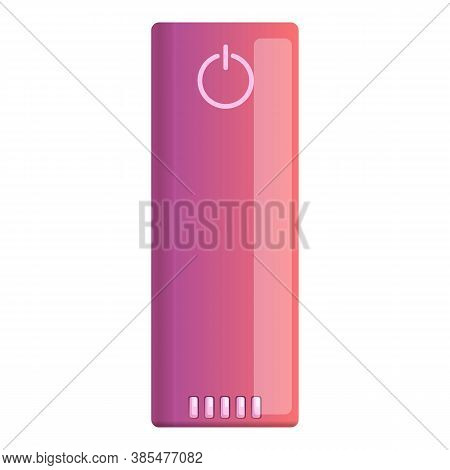 External Power Bank Icon. Cartoon Of External Power Bank Vector Icon For Web Design Isolated On Whit