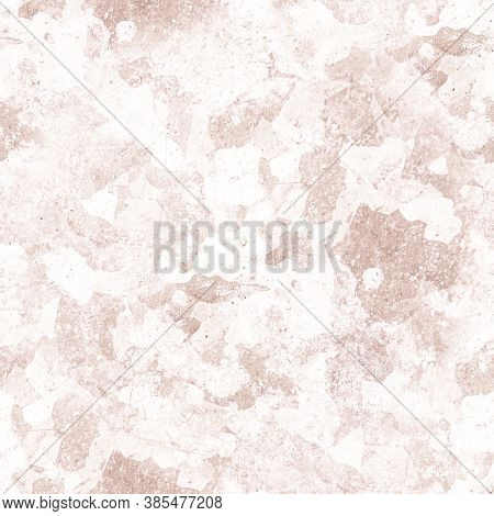 Pale Dirt Grunge Wall. Rusty Abstract Brush Effect. Paint Stone Paper. Brown Vintage Background. Anc
