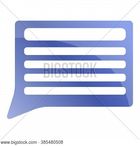 Feedback Chat Icon. Cartoon Of Feedback Chat Vector Icon For Web Design Isolated On White Background