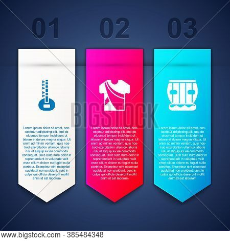 Set Sitar, Indian Man Dress And Instrument Tabla. Business Infographic Template. Vector
