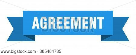 Agreement Ribbon. Agreement Isolated Band Sign. Banner