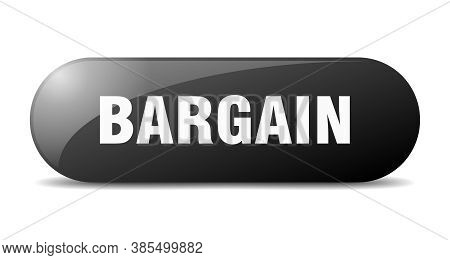 Bargain Button. Sticker. Banner. Rounded Glass Sign