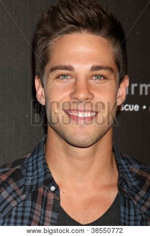 LOS ANGELES - OCT 7:  Dean Geyer arrives at the 4th Annual Los Angeles Haunted Hayride VIP Premiere Night at Griffith Park on October 7, 2012 in Los Angeles, CA