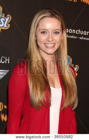 LOS ANGELES - OCT 7:  Greer Grammer arrives at the 4th Annual Los Angeles Haunted Hayride VIP Premiere Night at Griffith Park on October 7, 2012 in Los Angeles, CA