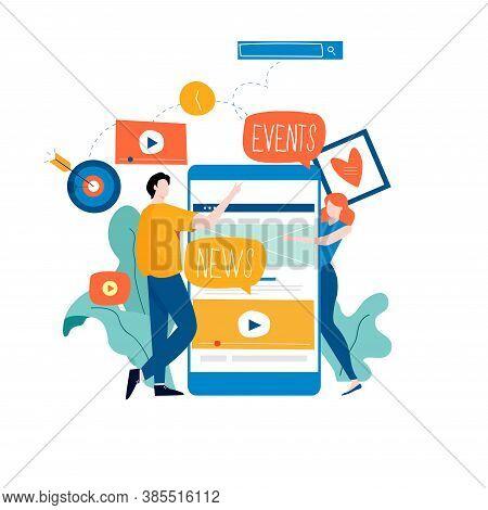 E-mail News, Subscription, Promotion Flat Vector Illustration. Online News, News Update, Information